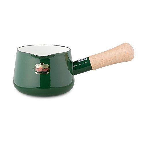 富士ホーロー ミルクパン solid 12cm グリーン SD-12M・G