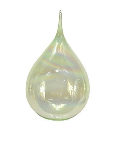 Sage & Co. Green Glass Rain Drop Ornament