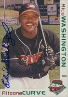 Rico Washington Altoona Curve - Pirates Affiliate 2002 Grandstand Autographed Hand... by Hall of Fame Memorabilia