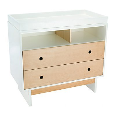 Maclaren Cub Changer, Natural Beech with White Satin Finish