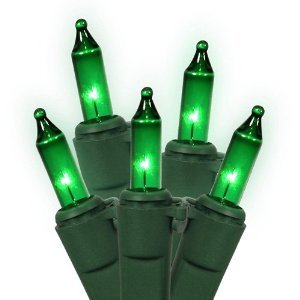 Choice Miniature Lights 100-Count String Green Bulb - Green Wire