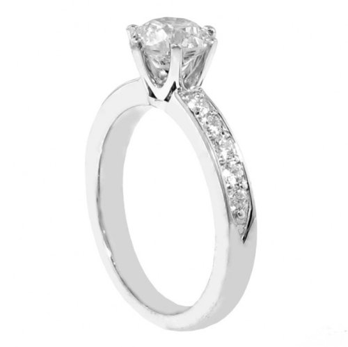 1.10 CT TW Round Diamond Engagement Ring in 14k