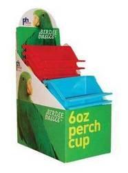 Cheap Bird Supplies Birdie Basics 6Oz Perch Cups 12Pc Display Box (BPV1265)