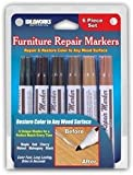 1 X Set of 6 Assorted Furniture Repair Markers Stain Scratch Floor Pens