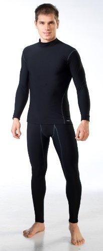 gWINNER ® Herren Funktionsunterwäsche SET - Langarm Shirt + Lange Unterhose SILVERPLUS® ANATOMY - Thermo LINE