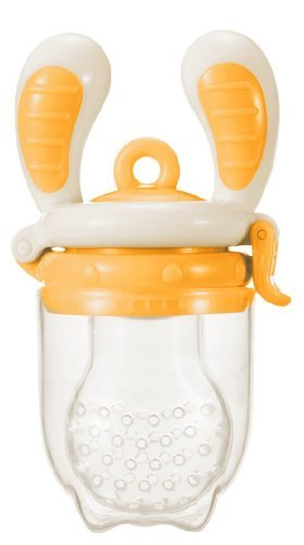 [Award Winning] Kidsme Food Feeder (Large Size) Color: White/Orange Newborn, Kid, Child, Childern, Infant, Baby back-431230