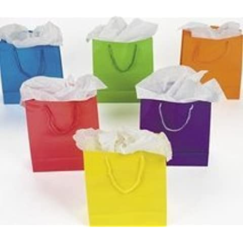Medium Neon Bag 1 dz Paper Gift Bags Medium