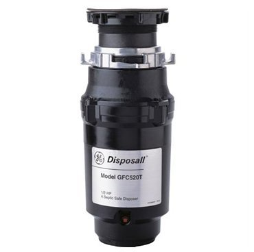 Ge Gfc520T 1/2 Hp Continuous Feed Waste Disposer With 2,600 Rpm Speed, 2 Leve...