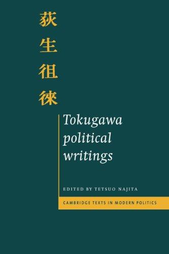 Tokugawa Political Writings (Cambridge Texts in Modern Politics)