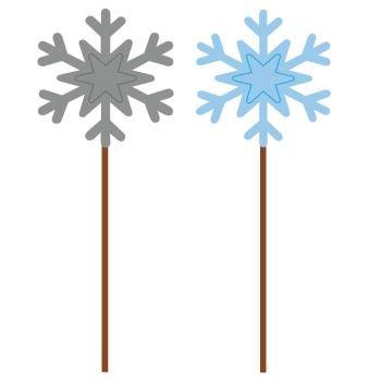 Snowflakes Foil Picks