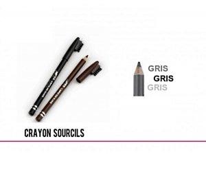 GRAND CRAYON A SOURCIL GRIS AVEC BROSSE MAQUILLAGE