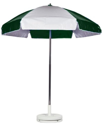 6.5 ft. Dia. Beach Umbrella w Manual Lift & Aluminum Pole (No Tilt)
