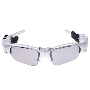 DTC CWS FM Radio Headset Fashion Sport Sunglasses Sun Glasses Silver