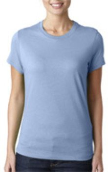 Bella+Canvas Ladies' Favorite Tee - Baby Blue (M) *** Product Description: 6004 Bella+Canvas Ladies' Favorite Tee : Baby Blue (M) Ring-Spun Cotton Makes This Cute Fashion Tee One To Wear Again And Again. 30-Single 100% Combed And Ring-Spun Cotton ***