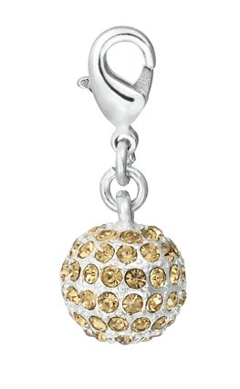 Pilgrim Women's Charms Pendant Brass Silver Plated Yellow 560140