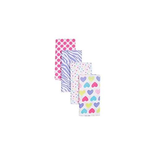 Gerber Girl Print Prefold Diaper Burp Cloths - 4 Count