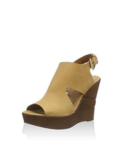 BULLBOXER Keil Sandalette braun