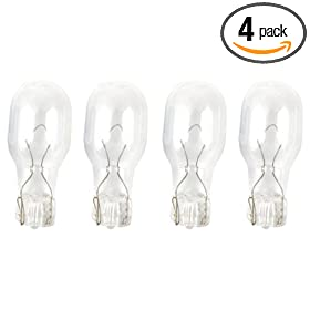 Moonrays 95527 Wedge Base Light Bulbs, 4 Pack, Clear, 11-Watt