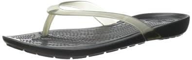 Crocs Women's Really Sexi Flip Flop Black/Black Flop 4 M