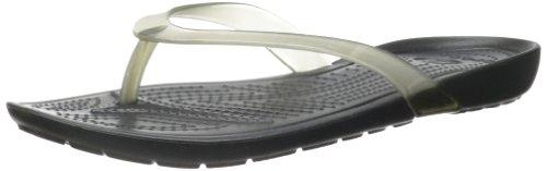 Crocs Women'S 14174 Really Sexi Flip Flop,Black/Black,6 M Us front-953241