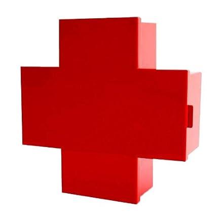 Cross container/armadietto dei medicinali, rosso, Standard