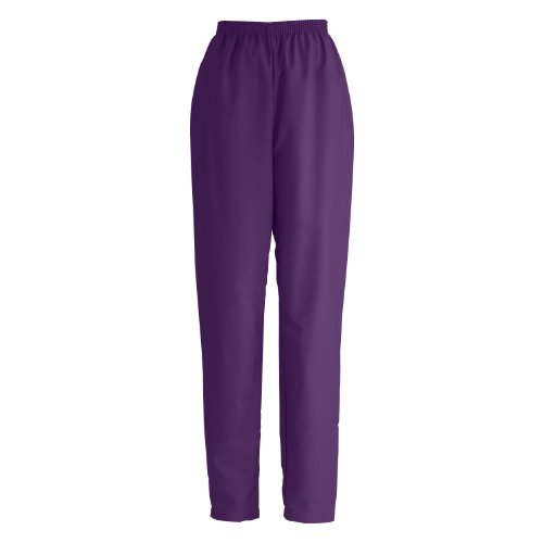 Medline 8850Jepl Comfortease Ladies Elastic Waist Scrub Pants, Large, Eggplant front-793598
