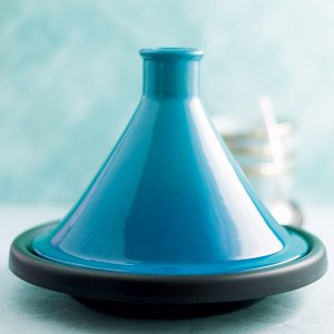Le Creuset Cast Iron and Stoneware Tagine, Teal