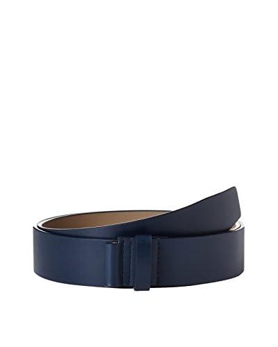 Porsche Design Cintura Idaho Leather - Calf [Blu Scuro]