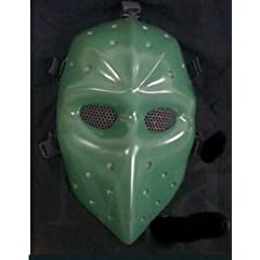 Green Airsoft Hockey mask,Heat mask,Goalie mask,Goalie masks,Goaltender masks,Airsoft... by D.I.Y Mask Mo