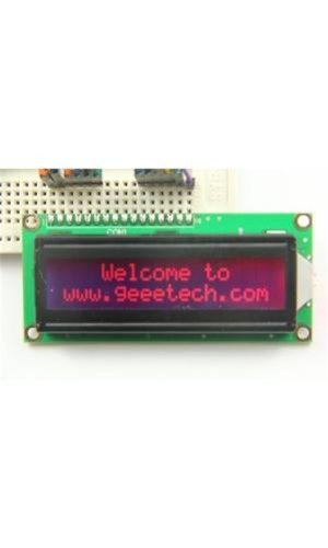 Shanhai Red Lcd1602 Display Module Work With Mcu Arm7 Arm9 Diy