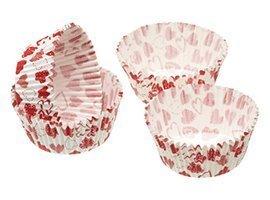 Kitchen Craft - Capsulas Mini Cupcake Heart (4,5 Cm), 80 Unids