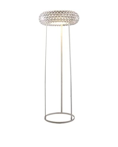 Modway Halo Floor Lamp, Clear
