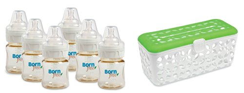 Born Free 5 Oz. Classic Bottle 6-Pack With Dishwasher Basket front-1053958