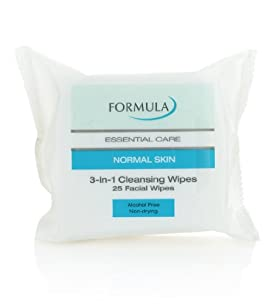 Formula Essential Care Normal Skin 3-in-1 Cleansing Facial Wipes