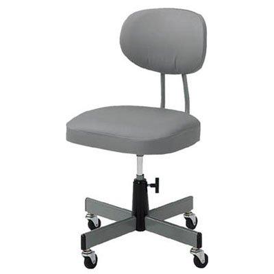 TRUSCO 事務椅子 ビニールレザー張り グレー T80_8000
