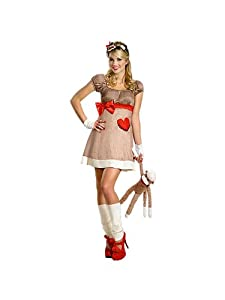 Adults Deluxe Ms Sock Monkey Costume for Women