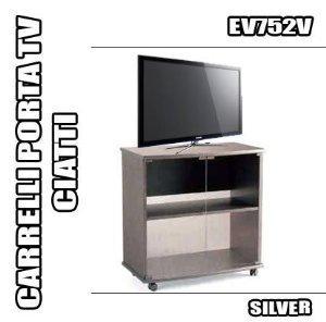 Rbn 07 carrello porta tv ciatti ev752 silver mobile con for Mobile con ruote