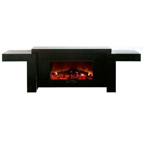 Yosemite Home Decor Df-Efp256 Low Electric Fireplace Console, Black