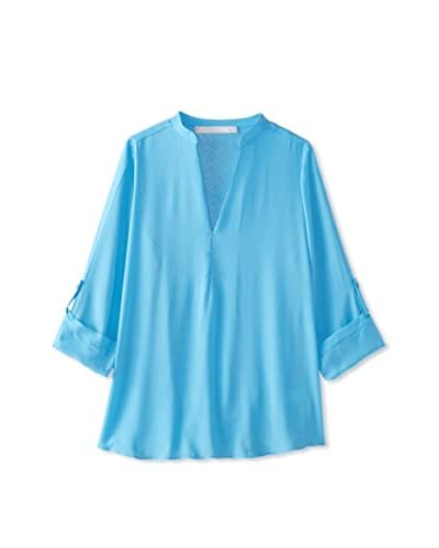 Lola & Sophie Women's Roll-Tab Sleeve Top