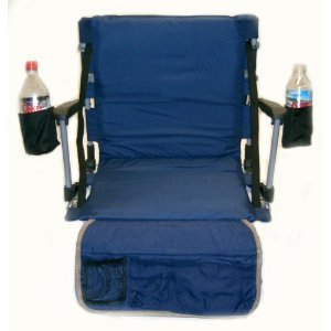 UNIQUE OASIS Sport Seat w/2 Cup Holders -3 Years Warranty-High Quality Construction-Available in BLUE ONLY... A FREE $19.99 VALUE SOLAR RECHARGEABLE LED LIGHT INCLUDED WITH THE PURCHASE OF ONE SEAT....