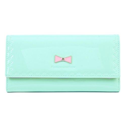 Damara Women Trifold Bow Patent Leather Handbag