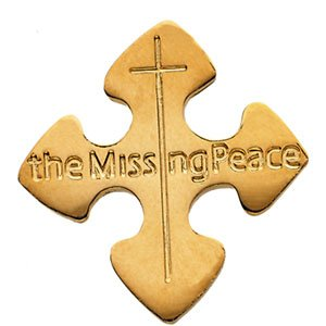 Mens Womens 14Kt Yellow Gold The Missing Peace Lapel Pin