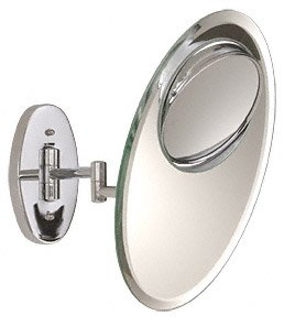 C.R. Laurence Z0Vw5 Crl Chrome Swivel Multi-Mag Wall Mount Dual Arm Mirror front-711094