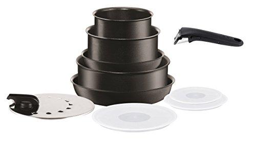 Tefal L6549602 Set de poêles et casseroles - Ingenio 5 Performance Noir 10 Pièces - Tous feux dont induction