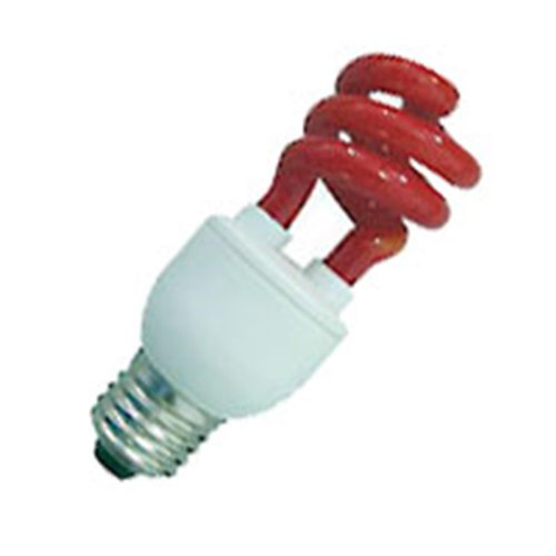 20 Qty. Halco 11W T3 Spiral Red Med Prolume Cfl11/Red 11W 120V Cfl Red Lamp Bulb