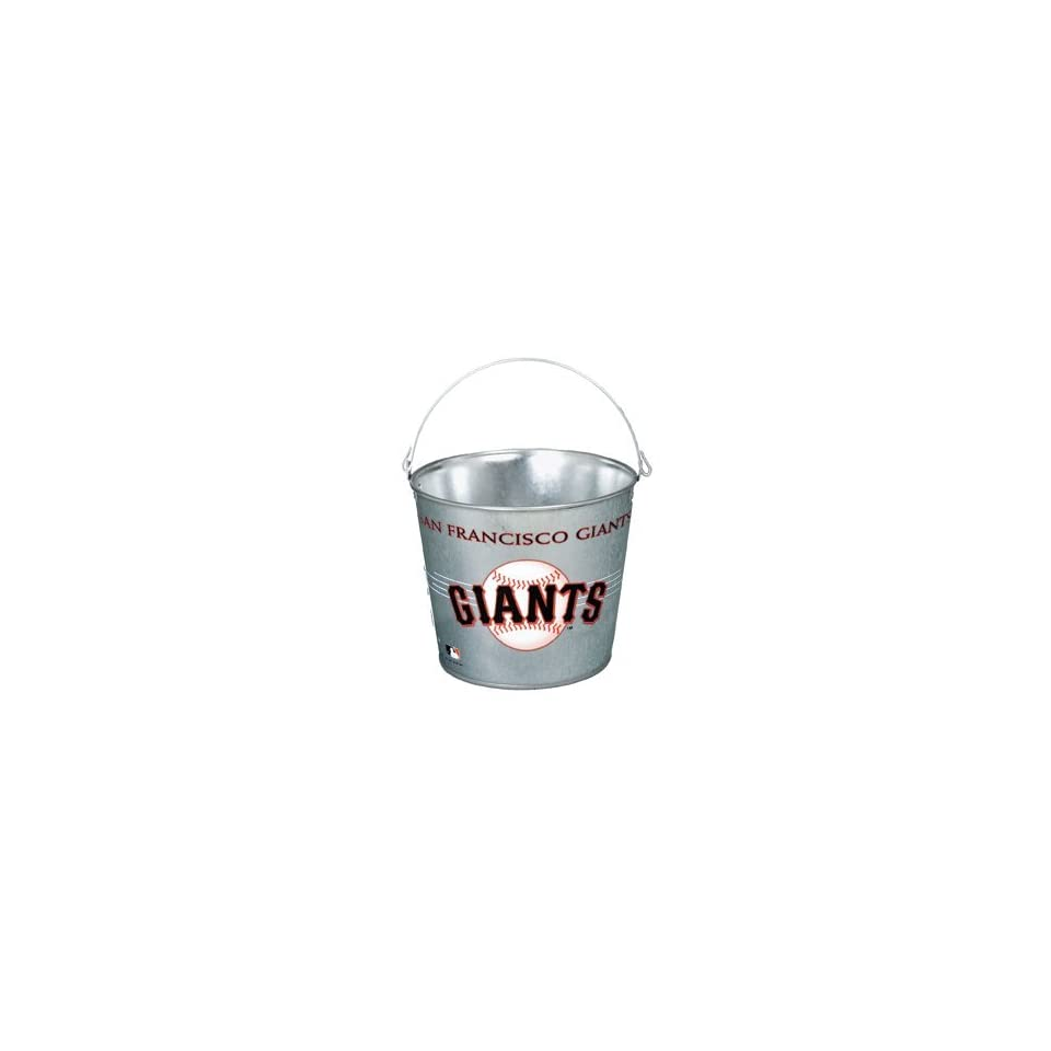 San Francisco Giants Galvanized Pail 5 Quart   Ice Buckets