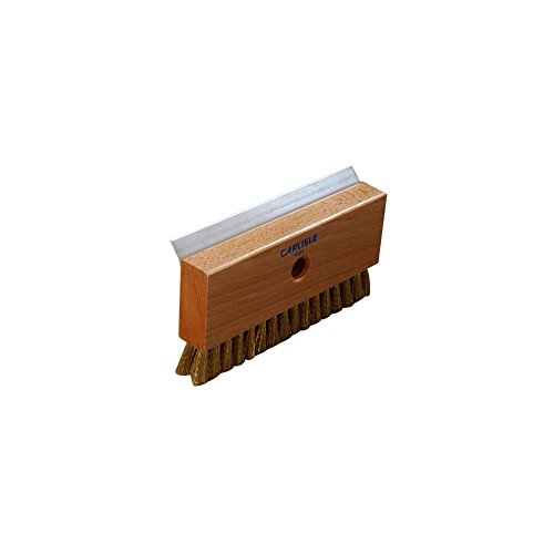 """Carlisle 4029100 Oven Brush And Stainless Steel Metal Scrapers, Brass Wire Bristles, 8-1/2"""" Length X 4-1/4"""" Width X 1-1/2"""" Height front-461834"""