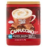 Hills Bros Sugar Free Double Mocha Cappuccino Beverage Mix, 12 oz - Pack of 2 (Color: Dark, Tamaño: Pack of 2)