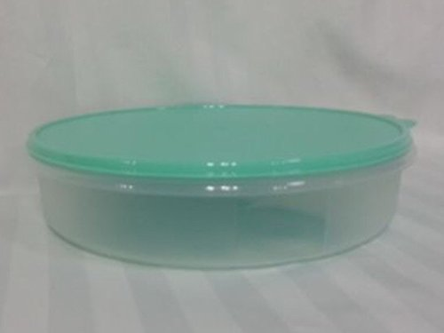 Tupperware Round Pie or Cupcake Keeper, 12-Inch, Sheer with Mint Seal (Tupperware Pie Carrier compare prices)