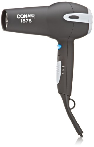Conair 225NP Comfort Touch Tourmaline Ceramic  1875-Watt Hair Dryer, Black - packaging may vary